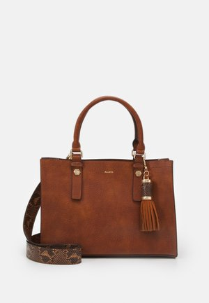 MIX MAT - Handbag - cognac