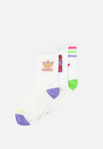 CREW SOCK 3 PACK UNISEX - Socks - white
