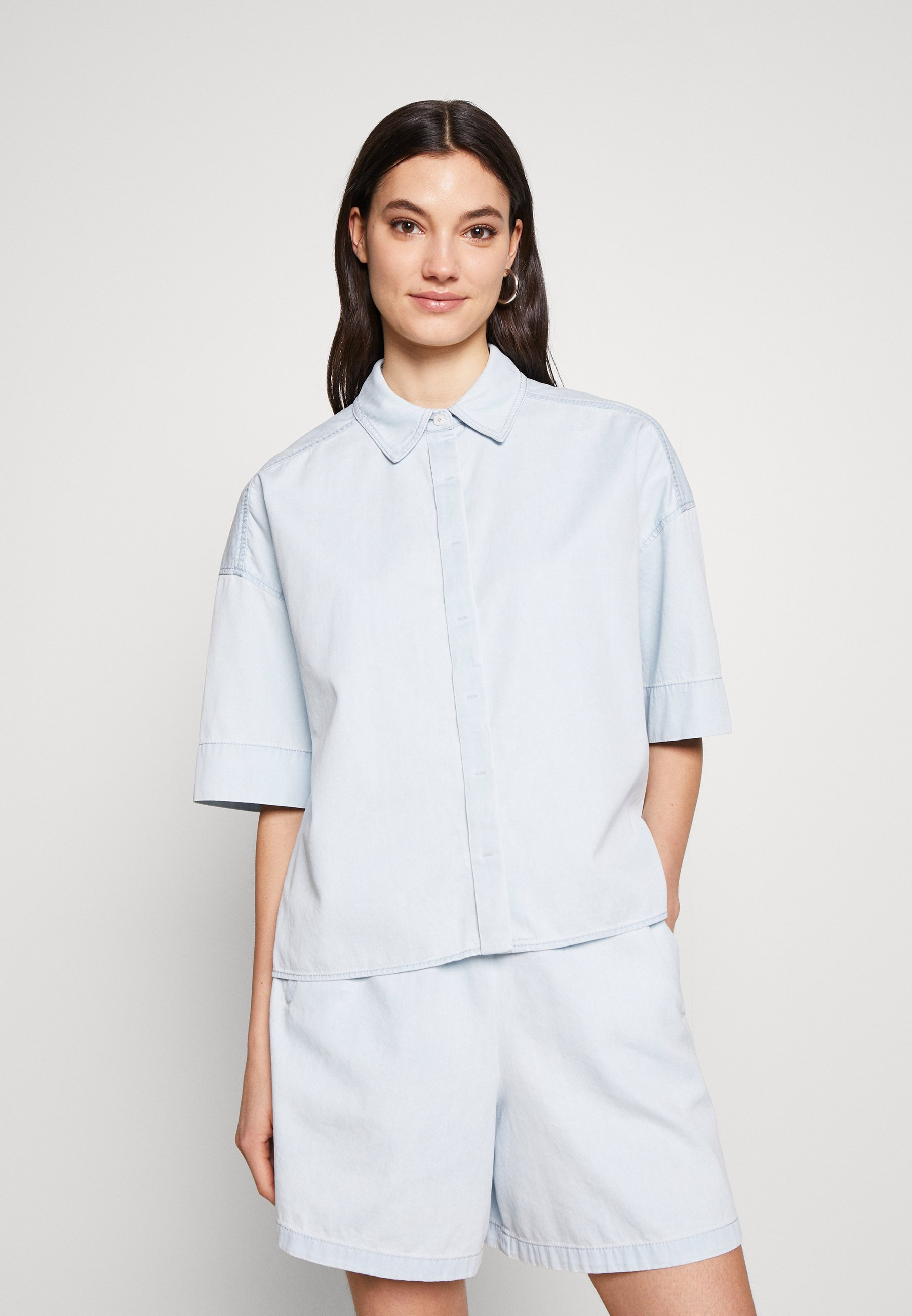 Factory Sale Women's Clothing DRYKORN THERRY Button-down blouse blau T3PG7RXlw