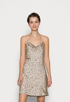 SIRI COWLNECK DRESS - Vapaa-ajan mekko - beige