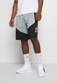 Puma - HOOPS HOOPS GAME SHORT - Sports shorts - black - 0