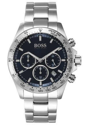 Chronograph watch - silver-coloured/metallic blue