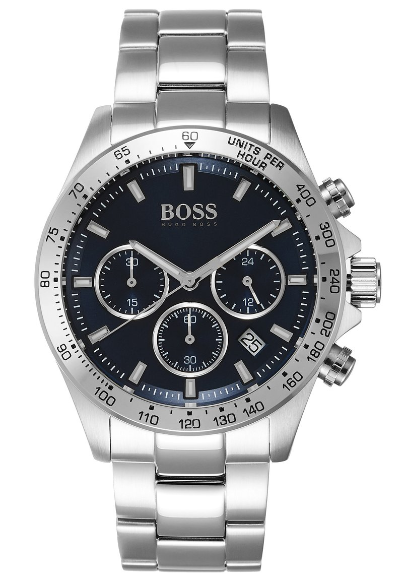 BOSS - Chronograph watch - silver-coloured/metallic blue