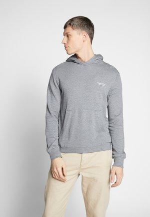 Mikina skapucí - grey melange