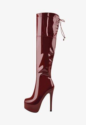 Laarzen met hoge hak - red