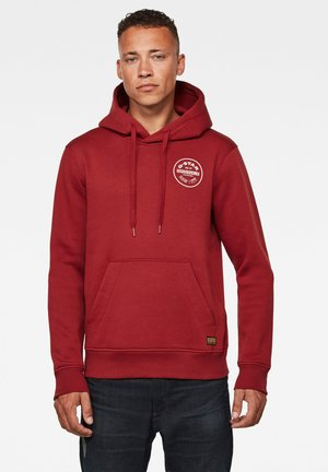 ROUND ORIGINALS HOODED LONG SLEEVE - Sweatshirt - dry red