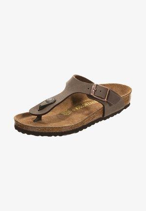 GIZEH - T-bar sandals - mocha