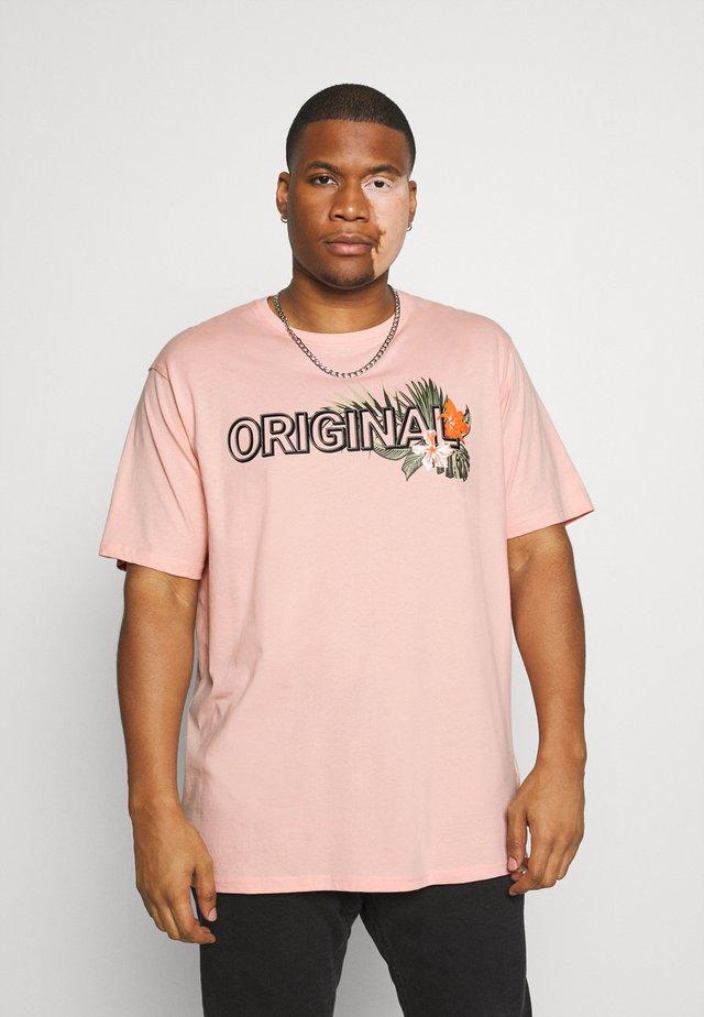 PRINT TEE - T-shirts med print - pink