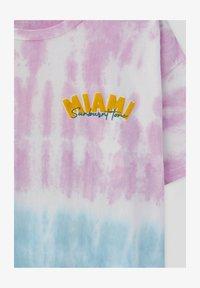 PULL&BEAR - Print T-shirt - blue - 4