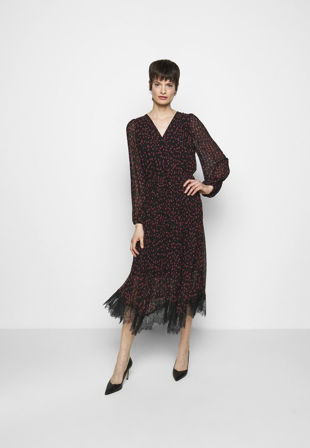 Sukienka letnia - black rudolph/red powder/pink multi