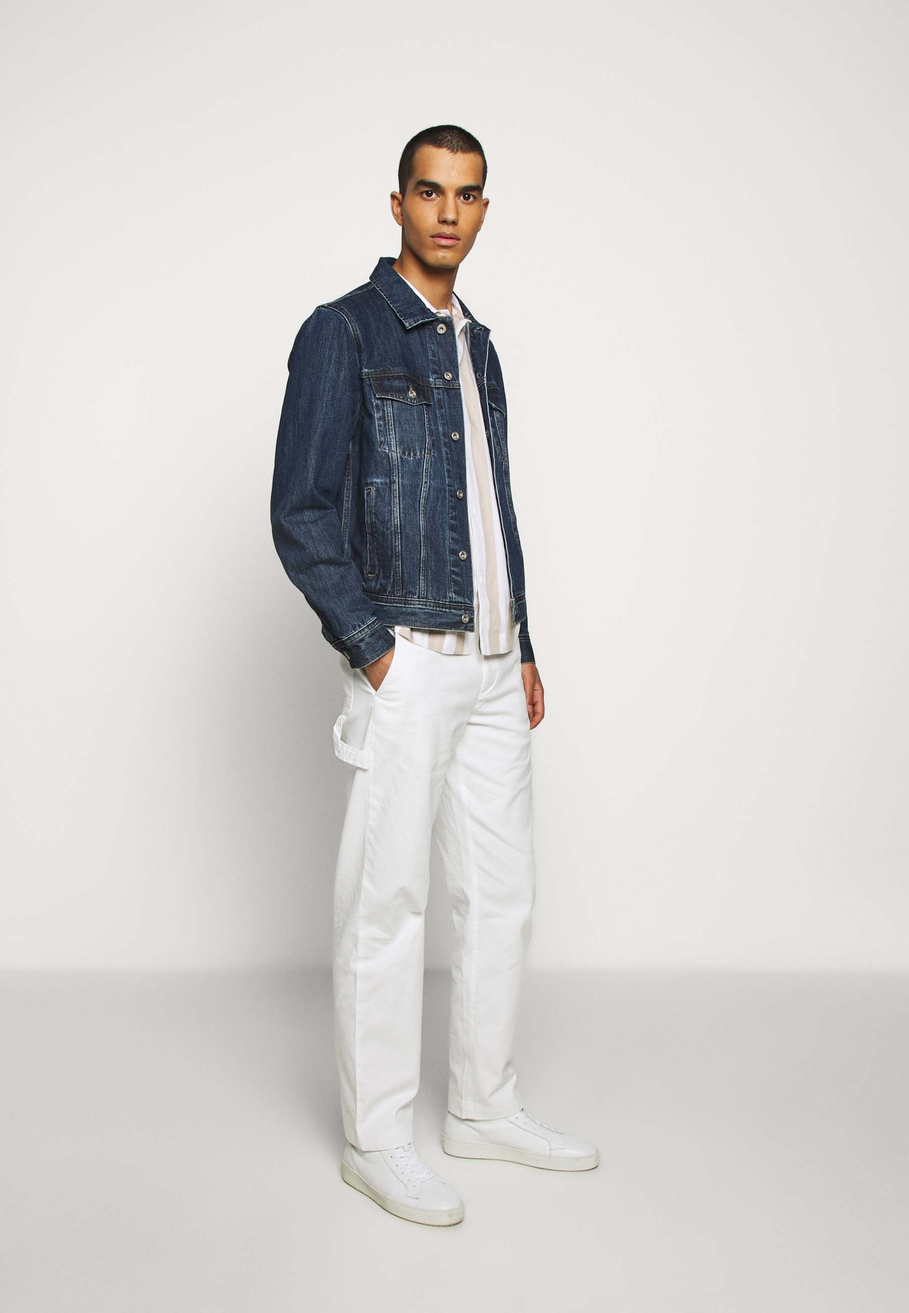 Club Monaco STRAIGHT LEG WORK PANT - Bukse - white