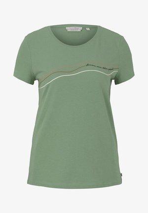 Camiseta estampada - light mint green