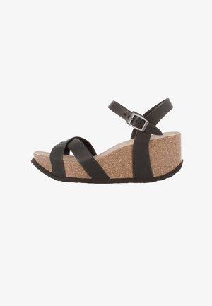 CANNES VACHETTA - Wedge sandals - braun