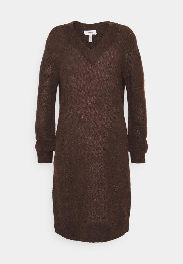 OBJIRINA DRESS  - Jumper dress - chicory coffee