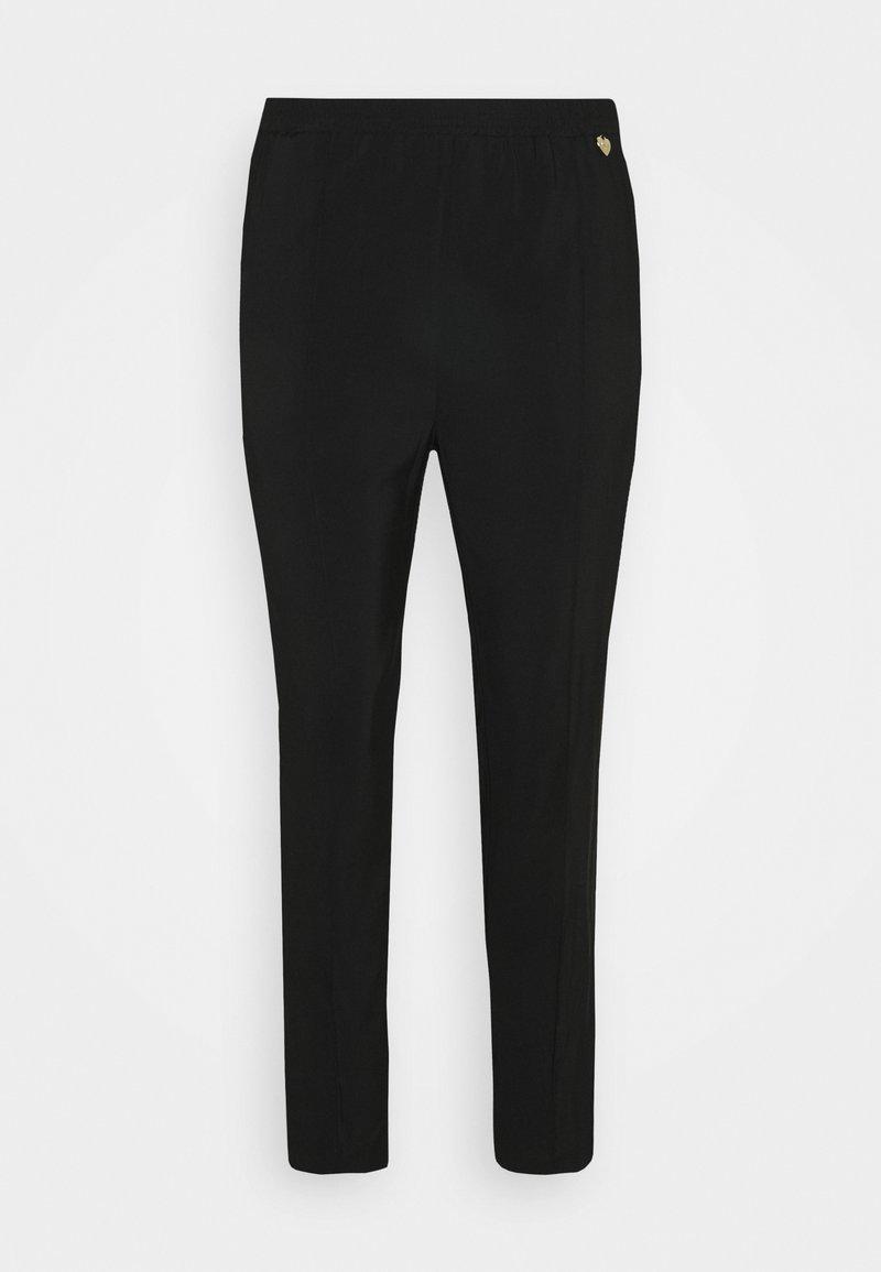 TWINSET - PANTALONE IN TRIPLA GEORGETTE - Trousers - nero