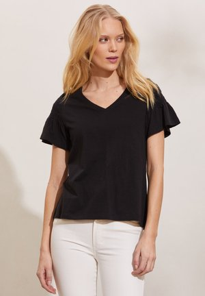 GLORIA - Basic T-shirt - almost black