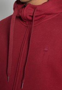 G-Star - PREMIUM CORE  - Vetoketjullinen college - pacior sweat chateaux red - 4