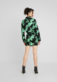 Missguided - DRAGON PRINT STRETCH CROPPED JACKET - Jeansjacka - neon green - 2