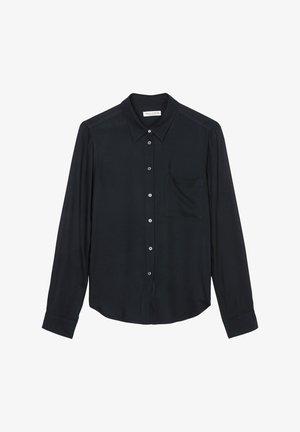Button-down blouse - deep blue sea