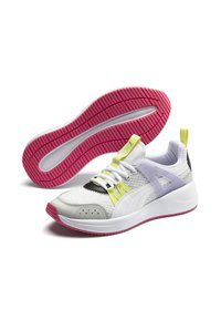 Puma - NUAGE RUN CAGE SUMMER - Sports shoes -  white-purple heather - 3