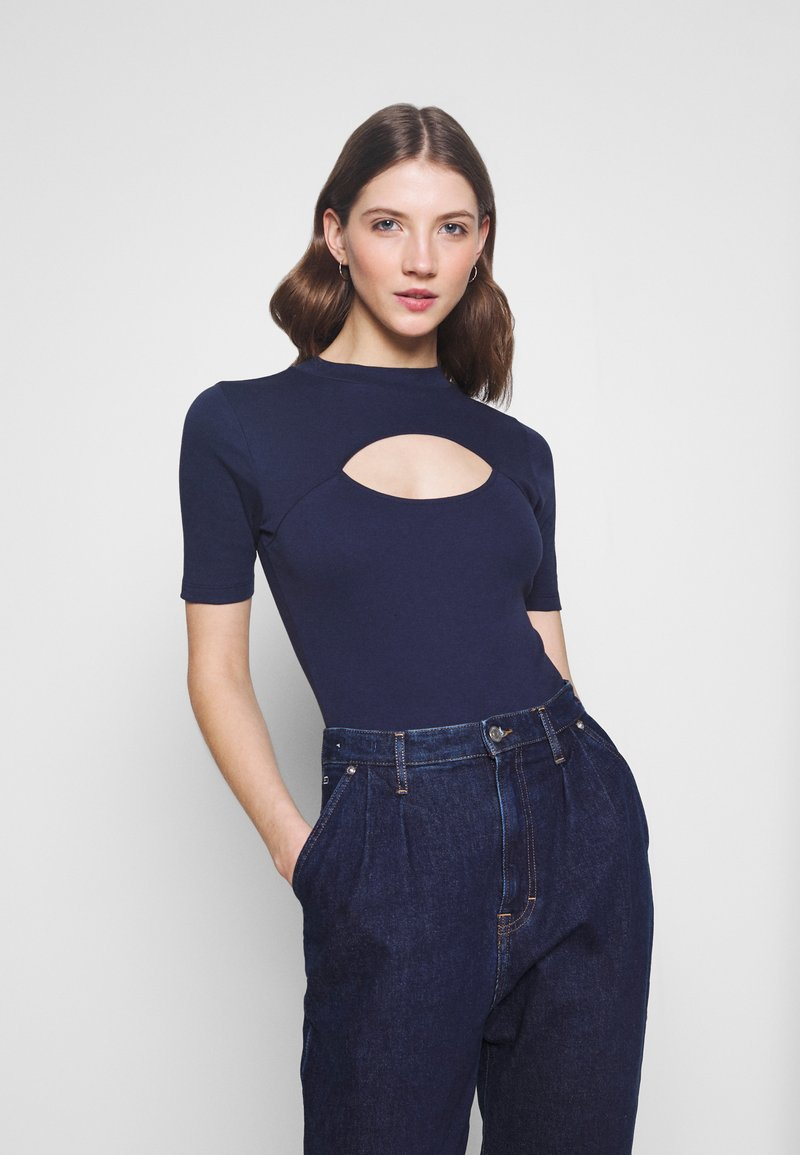 Tommy Jeans - CUT OUT  - Top - twilight navy