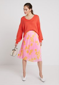 Marc O'Polo DENIM - SKIRT - A-line skirt - pink/orange - 1