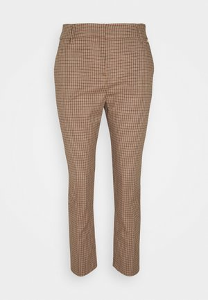 PANTALONE CIGARETTE - Trousers - natural/fuxia