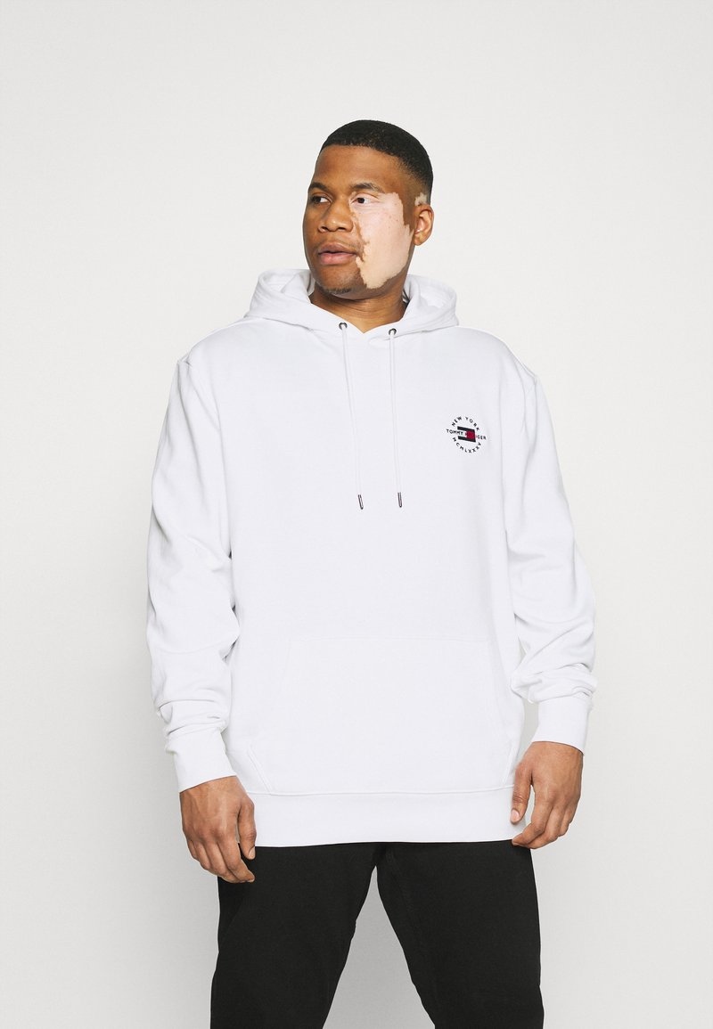 Tommy Hilfiger - CIRCLE CHEST CORP HOODY - Mikina skapucí - white