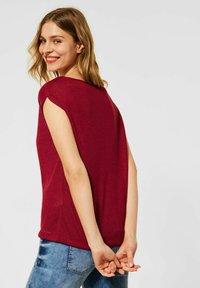 Street One - IM LEINEN LOOK - Basic T-shirt - rot - 2