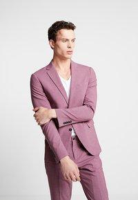 Lindbergh - PLAIN MENS SUIT - Kostuum - dusty pink melange - 2