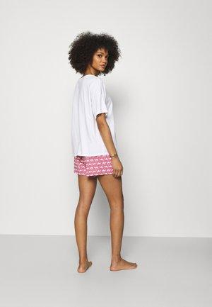 SHORT SLEEVES SHORT PANT - Pyjama - summer white