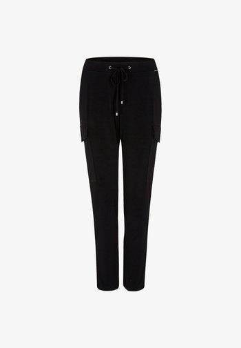 REGULAR FIT - Cargo trousers - black