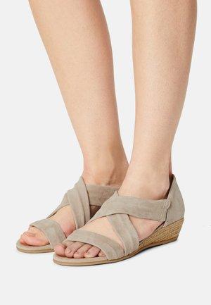 NUNCA.RIB3 - Wedge sandals - taupe