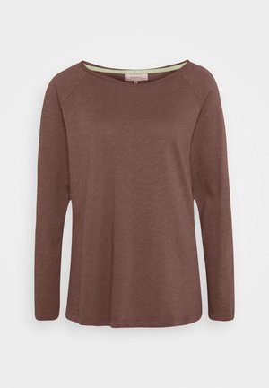 ESSENTIAL HEAVY SLUB - Long sleeved top - brown rose
