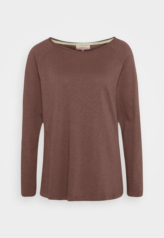 ESSENTIAL HEAVY SLUB - T-shirt à manches longues - brown rose