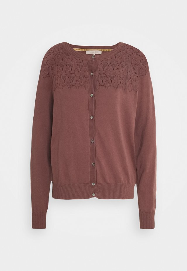 ESSENTIAL - Cardigan - brown rose
