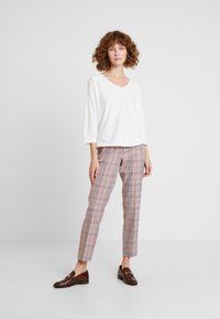 TOM TAILOR - MIA - Trousers - black/orange/grey - 1