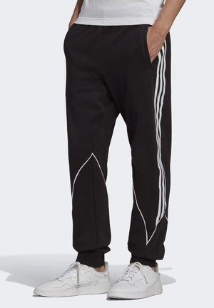 BIG TREFOIL ABSTRACT - Tracksuit bottoms - black
