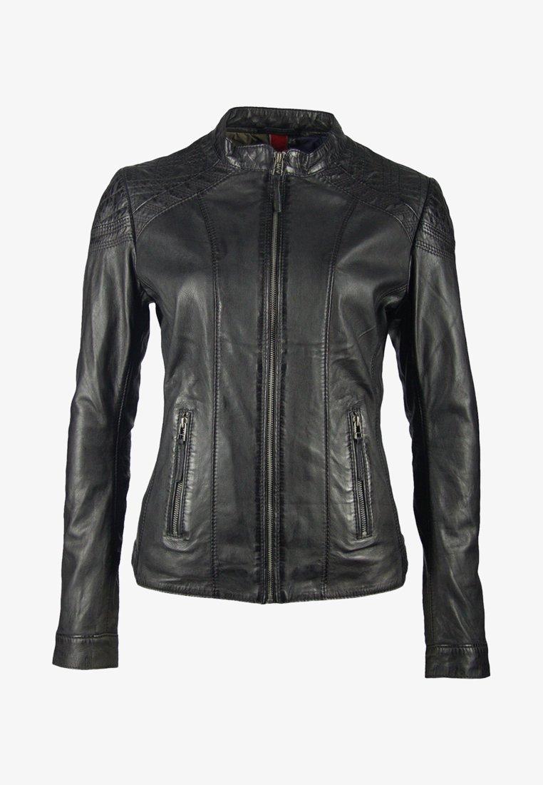 deercraft - SUN LAJUV - Leather jacket - black