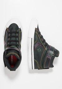 Converse - PRO BLAZE STRAP RAINBOW STITCH - High-top trainers - black/enamel red/rainbow - 0
