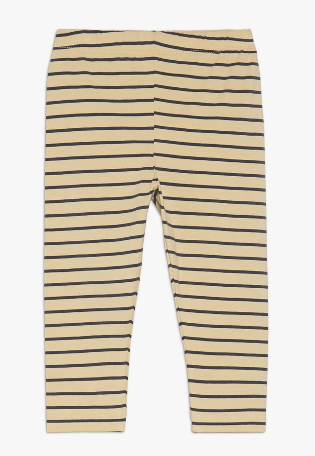 STRIPES PANT - Leggings - sand/true navy