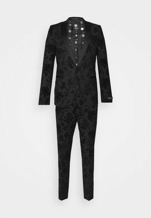 MILBURN FLOCKING SUIT SET - Suit - charcoal