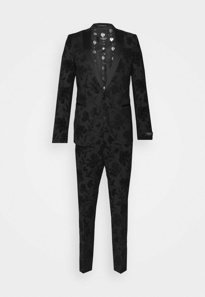 Twisted Tailor - MILBURN FLOCKING SUIT SET - Completo - charcoal