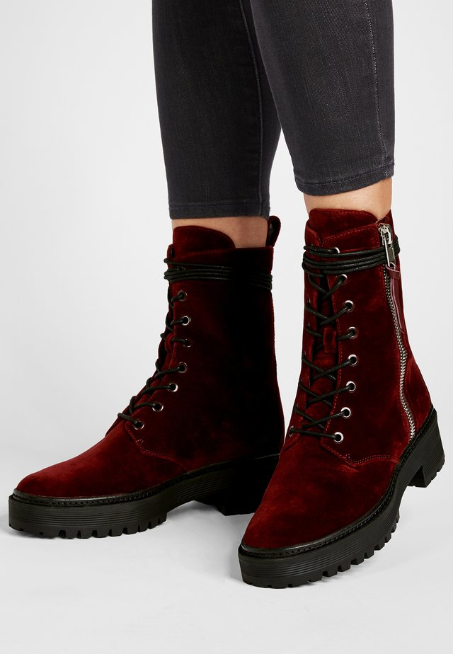 JADEN - High heeled ankle boots - dunkelrot