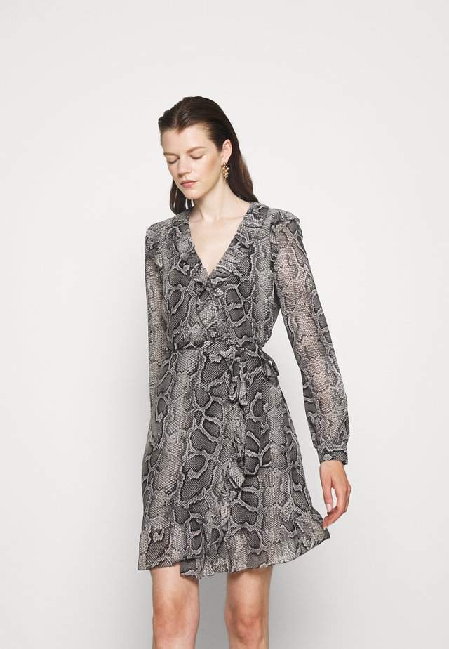 SNAKE WRAP DRESS - Day dress - malachite grey