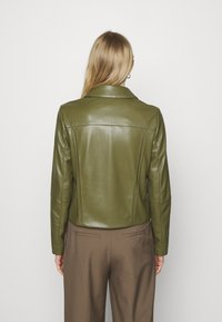 comma - Faux leather jacket - deep green - 2