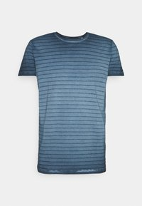 Marc O'Polo - SHORT SLEEVE ROUND NECK AMERICAN SHOULDER - Print T-shirt - total eclipse - 4