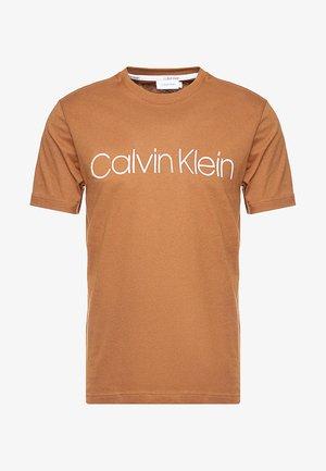 FRONT LOGO - T-shirt print - brown