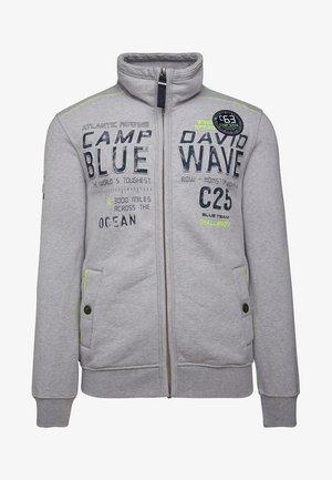 MIT PRÄGUNG  - Zip-up hoodie - grey melange