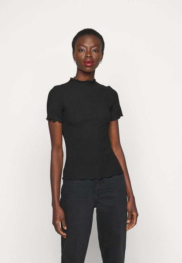 ONLEMMA HIGHNECK TOP  - T-shirt con stampa - black